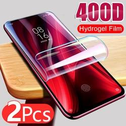 2 pçs filme de hidrogel para xiaomi redmi nota 9s 9 pro 7 8 9t 8t poco x3 nfc m3 mi 11 8a protetor de tela redmi 8 protetor de proteção sem vidro