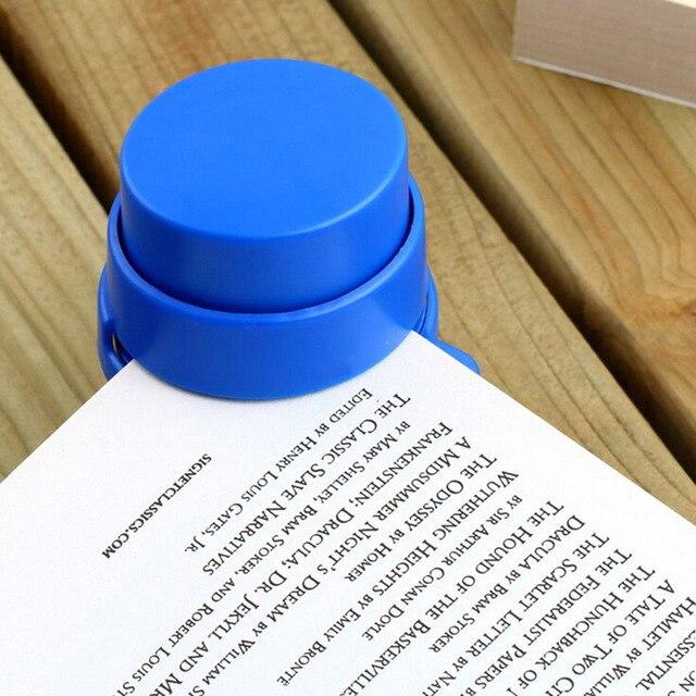 Agrafeuse sans agrafe de bureau chaude agrafeuse à la maison reliure à papier reliure trombone taille: 5*5.7cm
