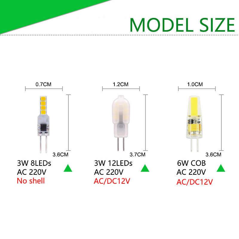 DC 12V AC 220V G4 Led G4 maíz bombilla 4W 6W 10W foco de alta potencia 3014 SMD 2835 reemplazar 20w 30w 40w lámpara halógena de luz 3W 5W 7W