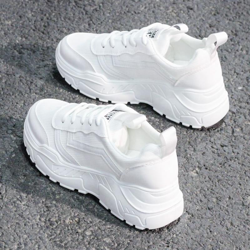 Повседневная обувь; женские кроссовки на массивном каблуке; модная женская обувь для папы; сезон весна осень; цвет белый, черный; кроссовки на массивном каблуке; Вулканизированная обувь|Туфли|   | АлиЭкспресс