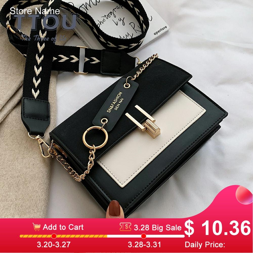 Contrast Color For Women 2020 Small Shoulder Messenger Bag Female Small Square Luxury Ladies Handbags And Purses Bolsa Feminina