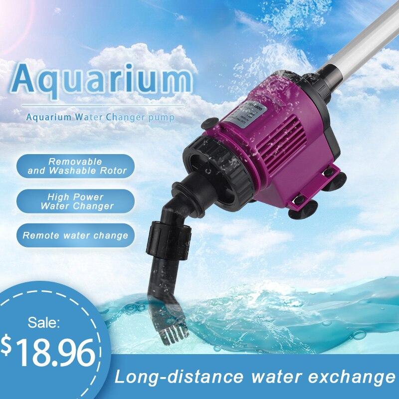6/38W Electric Aquarium Vcuum Cleaner Cleaning Tools Water Changer Gravel Cleaner Aquarium Siphon For Fish Tank Aquarium Cleaner