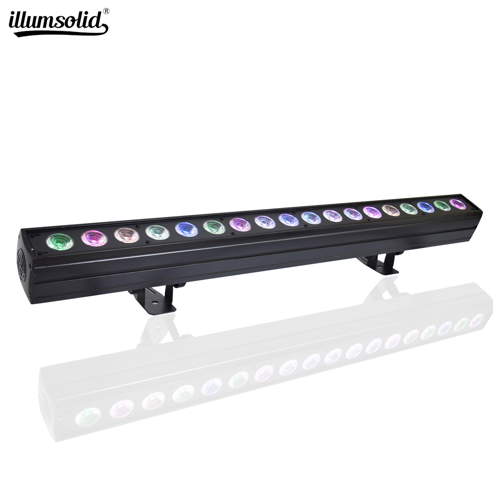 18x15W RGBWA 5in1 Led Wall Wash Light Washer Beam Lighting DMX512 Indoor Lighting For Dj Disco Party Wedding Bar Stage