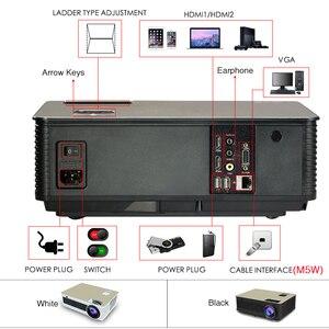 Image 4 - Poner Saund M5 LED Full HD 1080P 3D Android 6.0 Projetor 4500 Lumens Projektor USB USB WiFi Proyector bluetooth