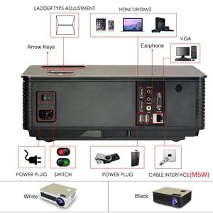 Image 4 - Poner Saund M5 LED Projector Full HD 1080P 3D Android 6.0 Projetor 4500 Lumens Projektor HDMI USB WiFi Proyector Bluetooth