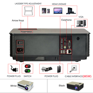 Image 4 - Poner Saund M5 LED projektör Full HD 1080P 3D Android 6.0 projektör 4500 lümen projektör HDMI USB WiFi Proyector Bluetooth