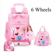 Wheeled backpack for school kid's rolling School Ba