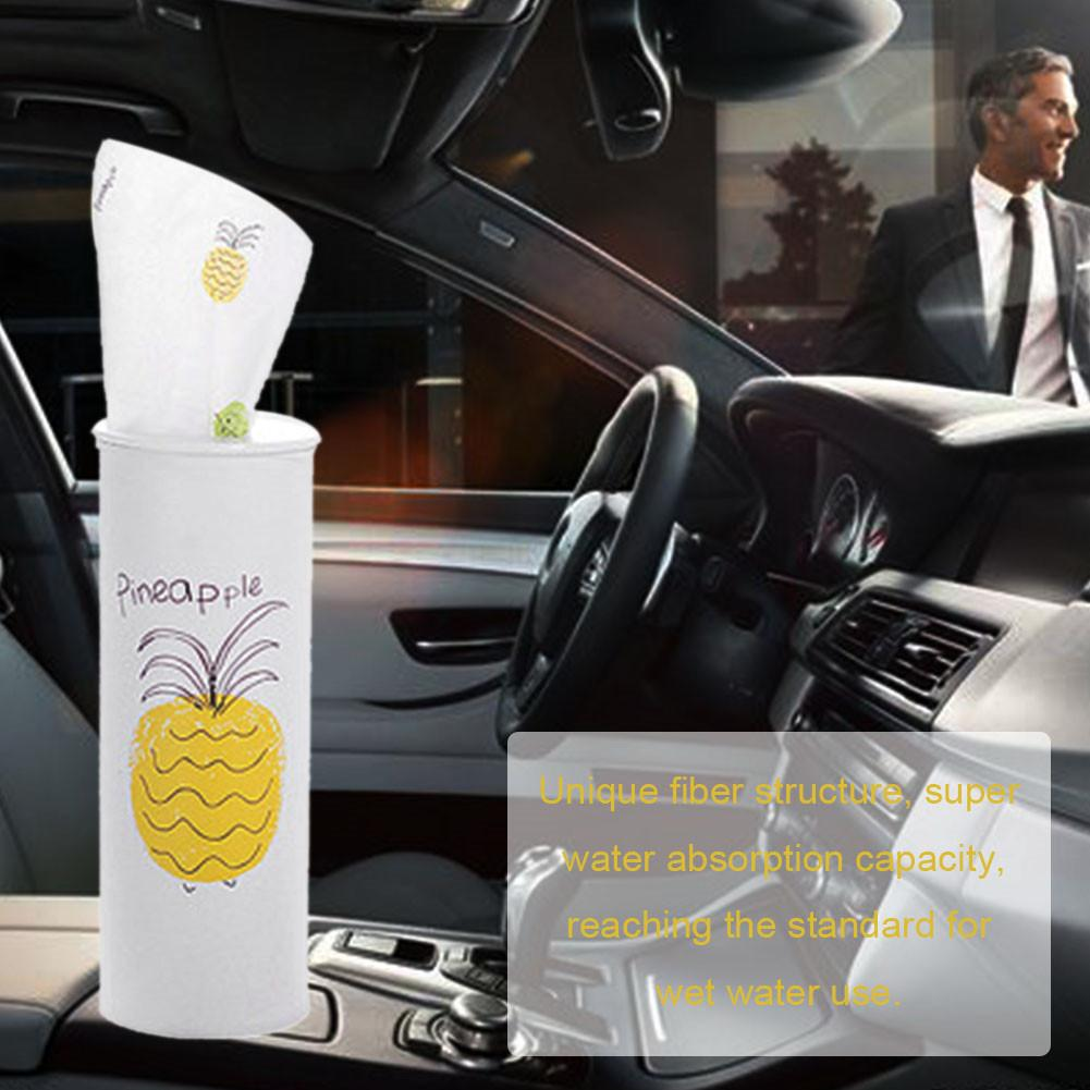 1pcs Facial Tissue Cylinder Soft Paper Towel With Fruit Pattern Fragrance-free Cleaning Tissue For Home Car (Random)