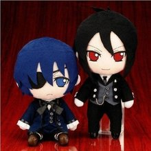 Peluche de majordome noir de dessin animé japonais, poupée en peluche Ciel, figurines de sébastin, jouets pour enfants, cadeau d'anniversaire