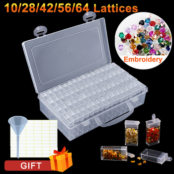 10/28/42/56/64Pcs Diamond Painting Box Storage Tools Accessories Beads Container Rhinestone Diamond Embroidery Stone Storage Box 1