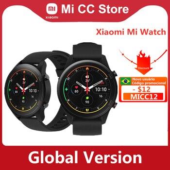 "Xiaomi mi assista 1.39 ""amoled display sangue oxigênio gps bluetooth5.0 rastreador de fitness 5atm à prova dwaterproof água mi relógio cor versão global 1"