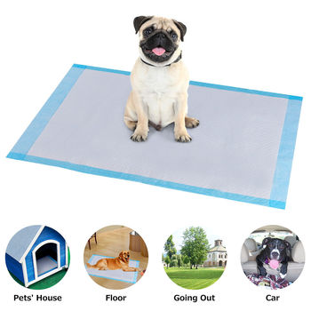 Costway 150 PCS Puppy Pet Pads Dog Cat Wee Pee Piddle Pad Training Underpads (24'' x 36'') 2