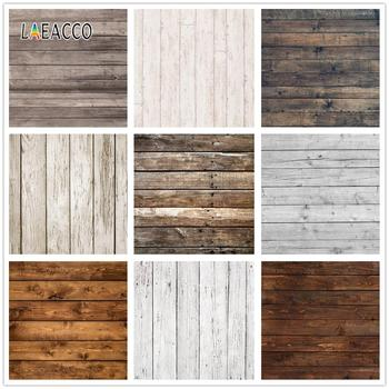 Laeacco Old Wooden Board Photocall Plank Pet Grunge Baby Portrait Photography Backgrounds Vinyl Photo Backdrops For Studio