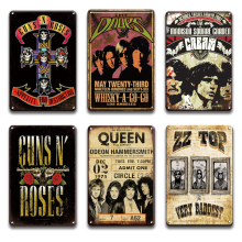 Rock N Roll Metal Poster Tin SIgn Vintage Band Metal Plate Sign Bar Man Cave Decorative Plaque Room Interior Decoration New