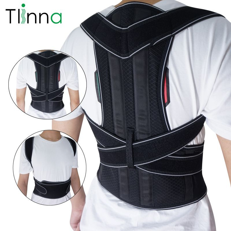Tlinna Adjustable Back Spine Posture Corrector Adult Humpback Pain Back Support Brace Shoulder Belt Posture Correction