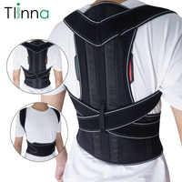 Tlinna correcteur de Posture de colonne vertébrale réglable douleur de dos à bosse adulte soutien du dos orthèse de Correction de Posture de ceinture d'épaule
