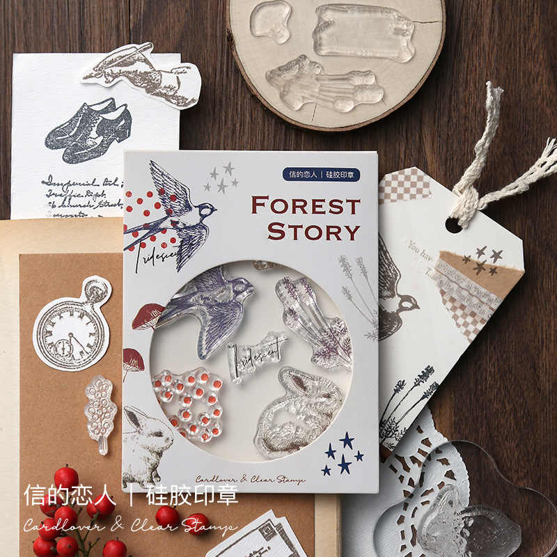 Vintage Kreatif Tanaman Animal Planet Bahasa Inggris Silicone Bening Stempel untuk Scrapbooking Album DIY Kerajinan Dekorasi Stempel Karet