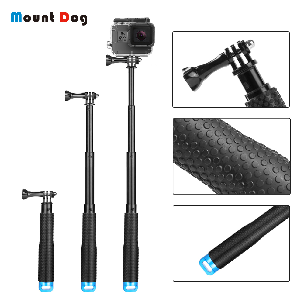 MountDog 19 Inch Mini Selfie Stick For GoPro Hero 7 6 5 4 Black Silver Session Monopod For Yi 4K Sjcam Action Camera Handle image