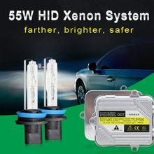 55w Быстрый яркий hid xenon комплект h7 h8 h9 h11 фар автомобиля