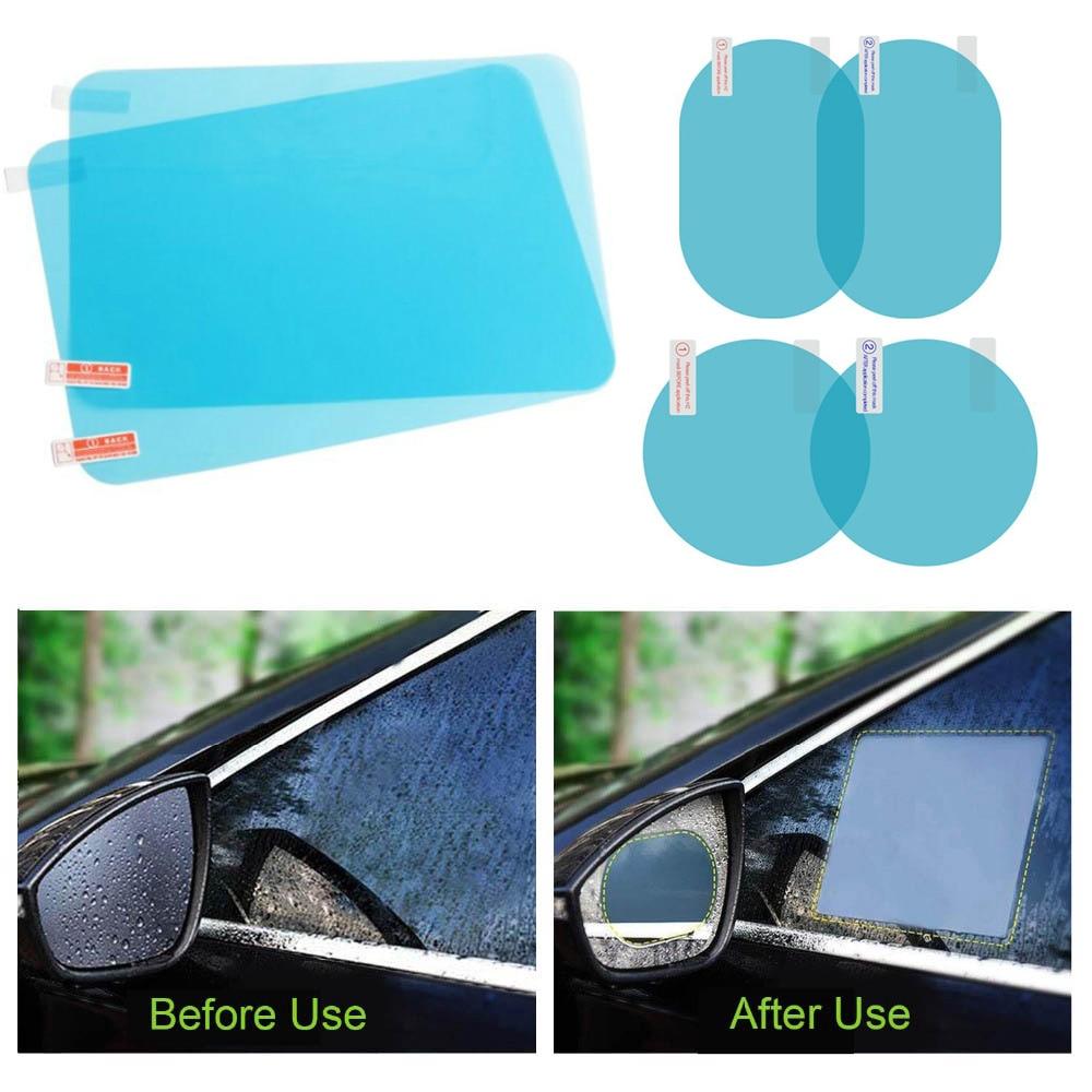 2PCS Rainproof Film Anti Fog Side Window Reflective Anti-Scratch Clear Protective Film Micro-Nano for Car Side Rearview Mirror