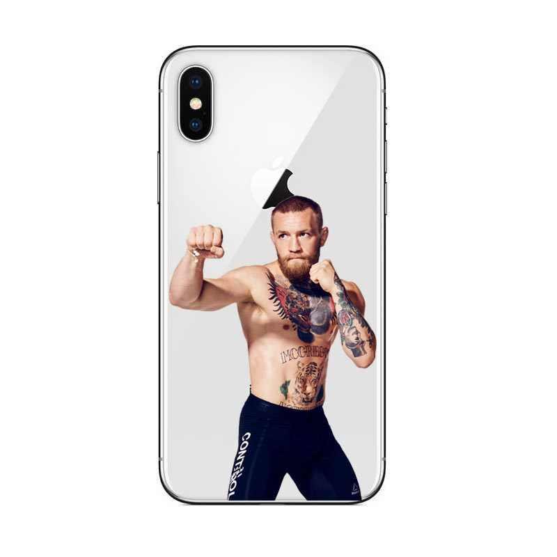 UFC Conor McGregor Black Soft ซิลิโคน TPU โทรศัพท์สำหรับ iPhone 8 8 PLUS 7 7Plus 6 6S 5 5S 6S PLUS X 10