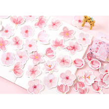 20packs/lot Kawaii Diary Label Cherry Blossoms DIY Scrapbooking Decoration School And Office Adhesive Paper Stationery Stickers