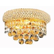 Современный хрустальный настенный светильник, хромированный настенный прикроватный бра для гостиной, настенный светильник, Гарантированная