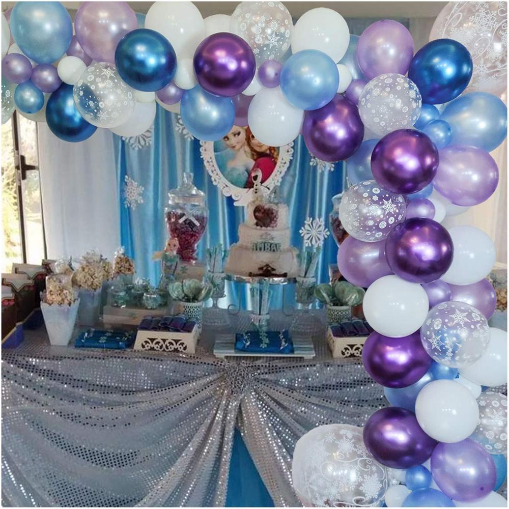 Эльза Анна, дневная яркая гирлянда, украшение на день рождения, Снежная королева, латексные воздушные шары, цепочка, украшение для будущей м...