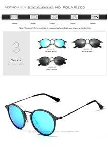 Image 5 - VEITHDIA Brand Designer Sunglasses Fashion Sun Glasses Polarized Coating Mirror UV400 Lens Round Male Eyewear For Men/Women 6358