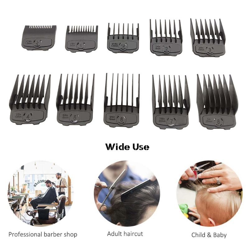 Professional Cutting Guide Comb Hair Clipper Limit Comb Set Cutting Tools Kit 19QE