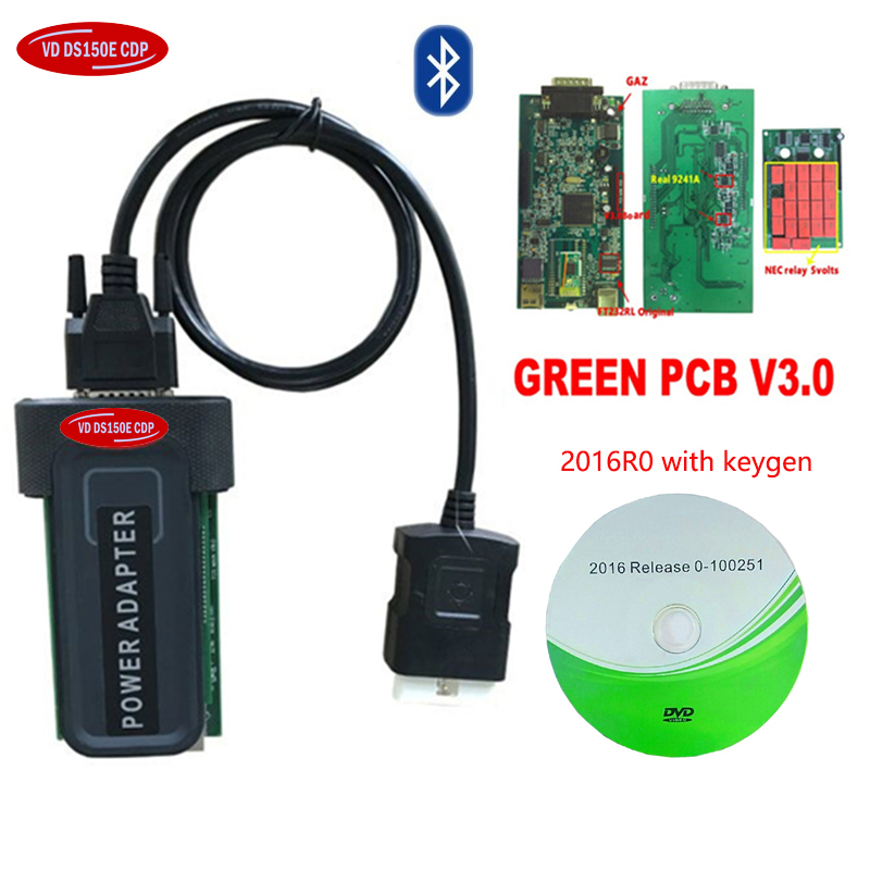 2019 Hot Sale 2016R0 Software With Keygen On CD For Autocoms With Bluetooth Relay VD DS150E CDP Pro Plus New Vci Scanner Tool.