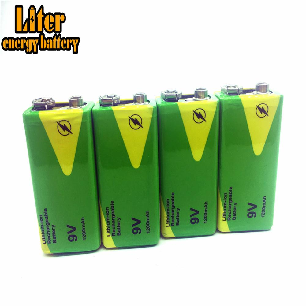 1/2/4 Pieces High Quality 9 V 1200 MAh Rechargeable Ni-MH Battery For Interphone Smoke Alarm Car Toys <font><b>9V</b></font> Nimh Batteries Replace image