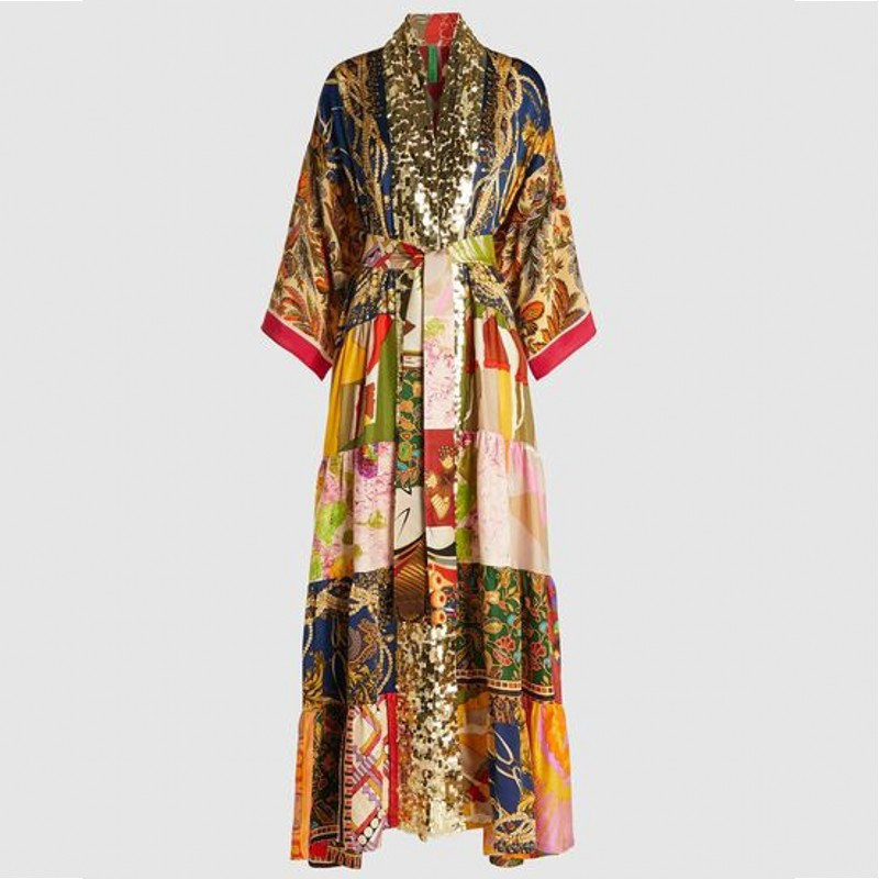 Spring Autumn African Dresses For Women 2020 Fashion Robe Long Dress Floral Print Bazin Vestidos Dashiki Party African Clothes