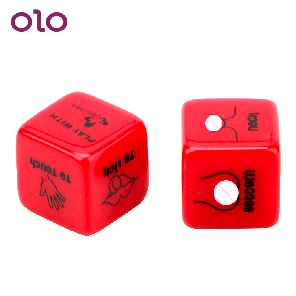 OLO 6 Positions Sexy Romance Love Humour Gambling Punishment 2Pcs/lot  Erotic Craps Pipe Toy For Couples Sex Dice Adult Games