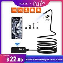 KZYEE 1080P WIFI kamera endoskopowa 5.5mm HD bezprzewodowa kamera inspekcyjna endoscop 3.5M 5M 10M WIFI kamera endoskopowa kamera do androida IOS