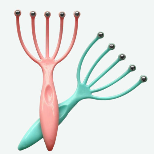 1Pcs Five Finger Head Relax Massager Hair Held SPA Hair Scalp Care Neck Stress Relief Massage Release Head Physician Ball Comb