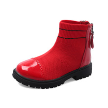 Fashion New Autumn Breathable Shoes Little Girl Boots For Big Kids Patent Leather Children Boot 4 5 6 7 8 9 10 11 12 Years
