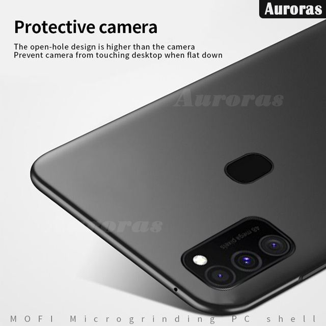 Auroras Ultra-thin Hard Matte Case For Samsung Galaxy M21 Back Cover For Samsung M21 Cover Shockproof Case Funda