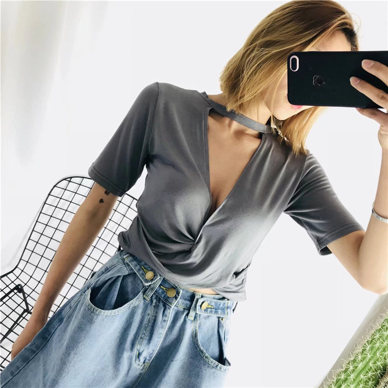 2020 Summer Fashion Models Solid Color Breathable Cool Cool All-match Fashion Ladies Sexy Short Classmates  635