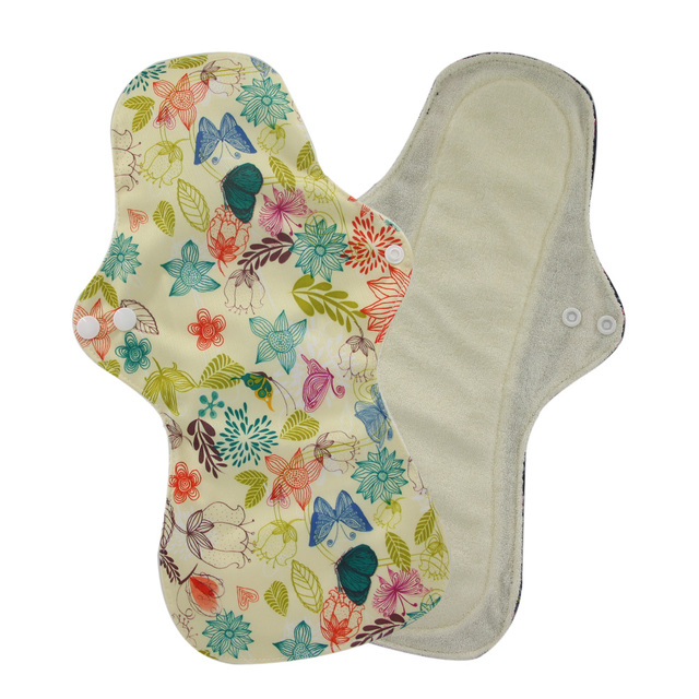 13 Flamingo Printed Night Use Reusable Menstrual Pads for Heavy Flow Large Size Breathable Women Cloth Pads Lining Waterproof