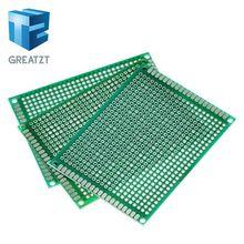 5PCS 6*8 6X8cm Doppel Side Prototyp pcb Breadboard Universal Printed Circuit Board für Arduino 1 6mm 2 54mm Glas Fiber cheap CN (Herkunft) 6X8cm Double Side