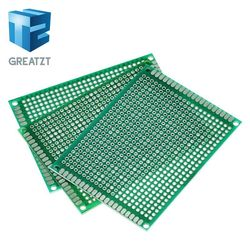 GREATZT 5PCS 6*8 6X8cm Double Side Prototype pcb Breadboard Universal Printed Circuit Board for Arduino 1.6mm 2.54mm Glass Fiber