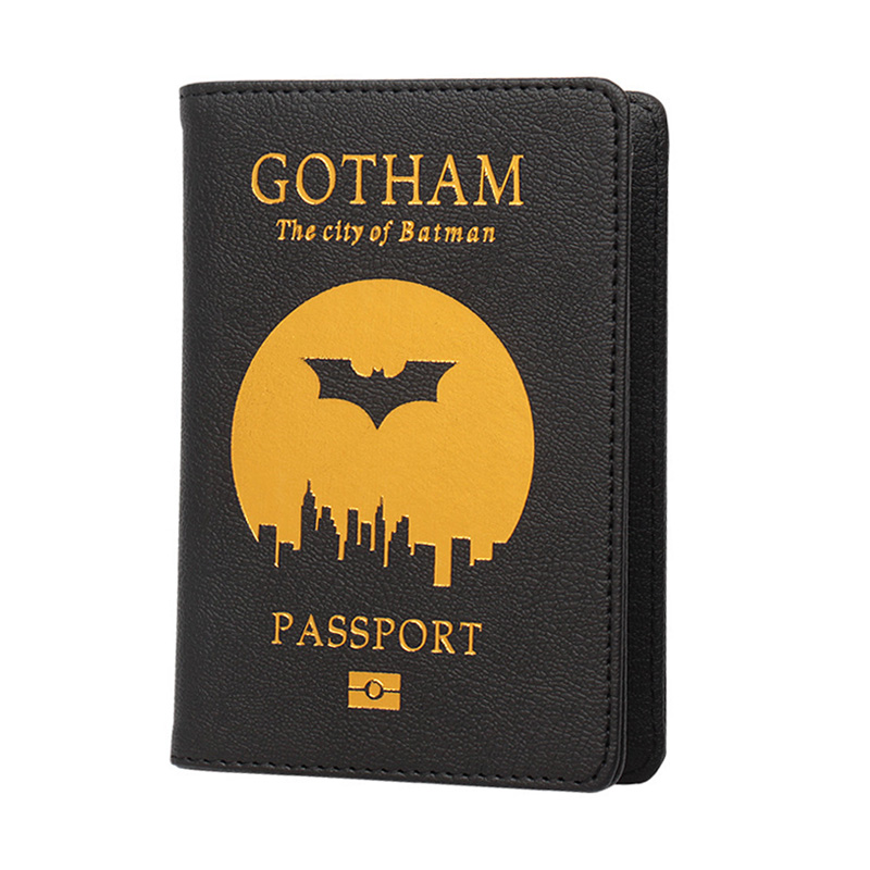 The City Of Batman Gotham Passport Cover Super Heroes Travel Accessories Cover On The Passport  Rfid Cover Passport  Holder
