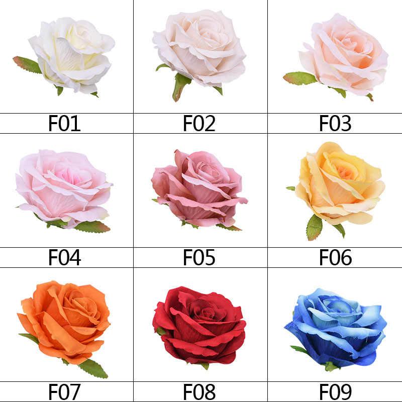 10Pcs 10ซม.ผ้าไหมกุหลาบตกแต่งดอกไม้Blossomงานแต่งงานอุปกรณ์ตกแต่งDIYพวงหรีดScrapbookingหัตถกรรม