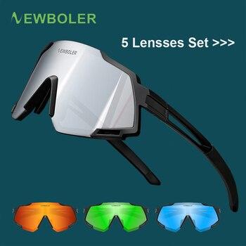 Newboler 2019 polarizado 5 lente ciclismo óculos de bicicleta de estrada ciclismo óculos de sol mtb mountain bike para o homem 1