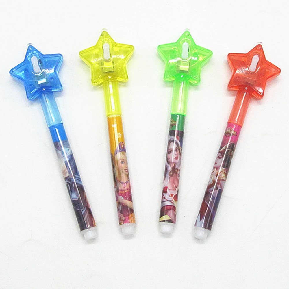 Светящийся светильник с большой головкой, волшебная фиолетовая ручка, 2 в 1, УФ-черный светильник, комбинированный рисунок, Невидимая ручка с чернилами, Обучающие Развивающие игрушки для детей
