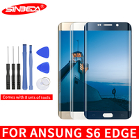 5.1Super AMOLED For SAMSUNG Galaxy S6 edge LCD Touch Screen Digitizer G925 For Samsung S6 Edge Display Burn Shadow