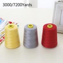 3000/7200 ярдов нитки швейные полиэстер конус Многофункциональный катушки для оверлок крепкий и прочный
