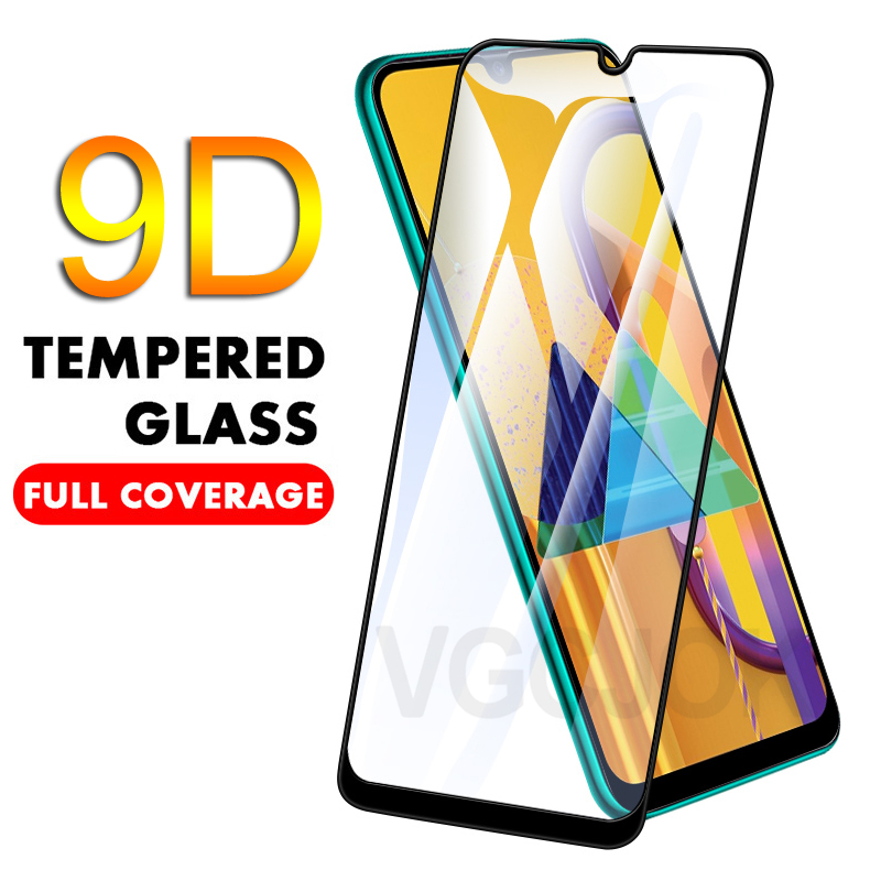 9D Tempered Glass On For Samsung Galaxy A10 A20 A20E A20S A30 A30S A40 A40S A50 A50S A60 A70 A80 A90 Full Cover Protective Film
