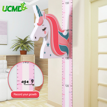 Magnetic Kids Height Growth Chart, unicorn Children Chart Wall Decal Measuring Ruler For Baby Room Sticker